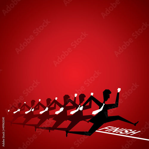competition every where concept stock vector