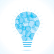 Blue square bulb background