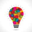 Colorful square bulb background