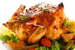 Rosted chicken and vegetables