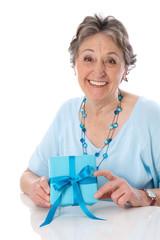 Großmutter isoliert am Muttertag
