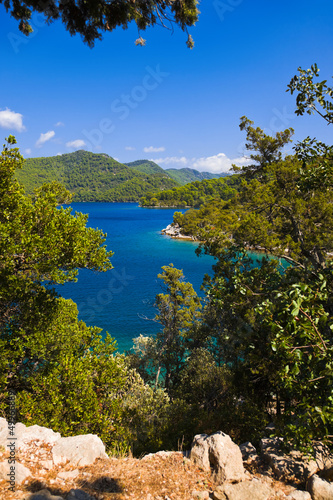 Lake at island Mljet in Croatia