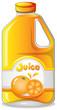 Orange juice in a gallon