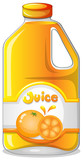 Orange juice in a gallon