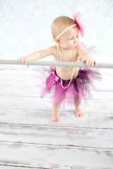 Cute baby ballerina