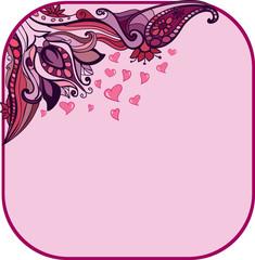 floral Valentine's day background