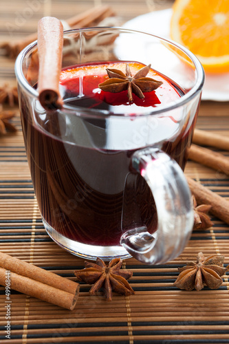 canvas print picture traditional hot mulled wine