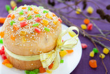 sweet kulich for Easter, Easter cake