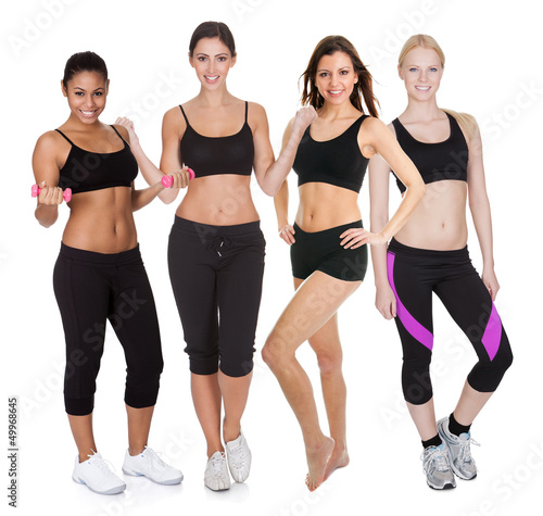 Group of fitness women