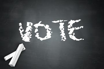 """Blackboard """"Vote"""""""