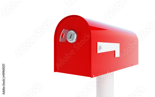 mailbox key 3d Illustrations on a white background