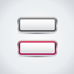 Buttons in metal frame - vector