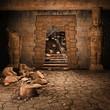 Ruiny starożytnej świątyni
