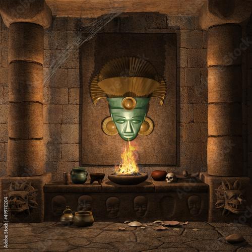 Starożytny ołtarz Majów