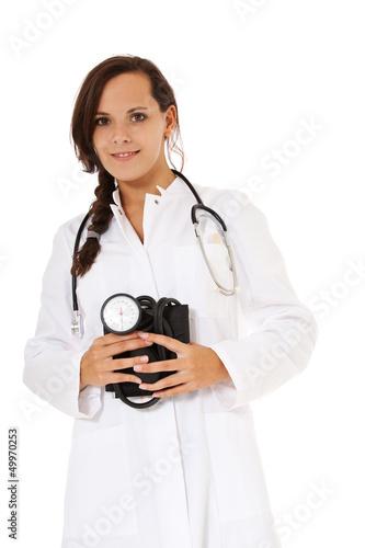 Attraktive junge Ärztin