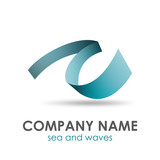 Vector logo sea and waves