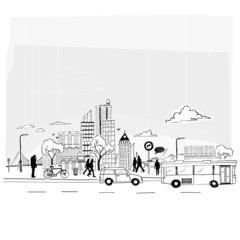 Paper City Vector