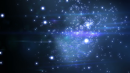 Beautiful Flight through the stars. Looped animation. HD 1080.