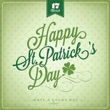Happy Saint Patrick's Day Typographical Background