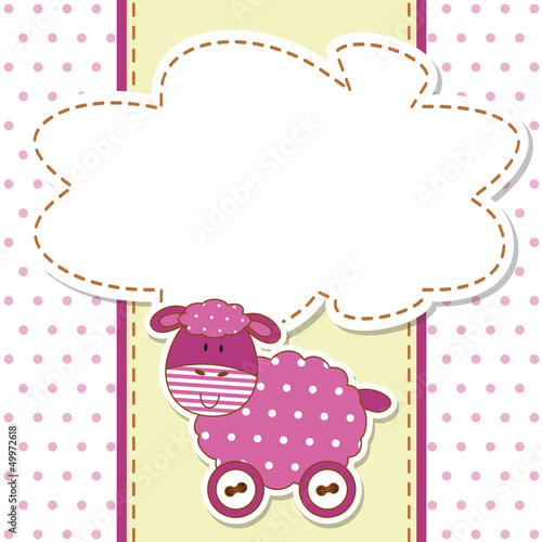 Baby Sheep - Pecorella - Place your text