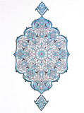 Islamic art on white paper