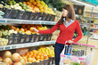 woman shopping fruits