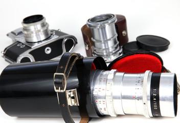 Fotografische Ausrüstung früher