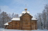 Old church of St. Nicolas (circa XVII c.). Novgorod, Russia
