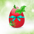 Fresh Easter Egg and leaf Butterfly Background