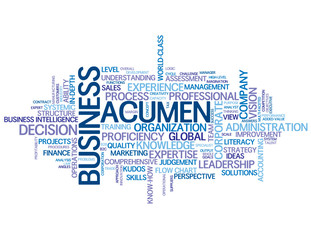 BUSINESS ACUMEN Tag Cloud (intelligence decision-making process)