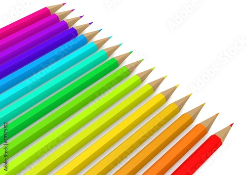 Color pencil line up