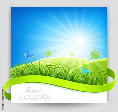 Summer holiday banner. Vector