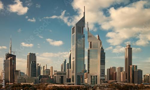 Plexiglas Dubai Skyscrapers of Dubai Skyline