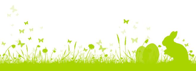 Silhouette Osterhase im Gras