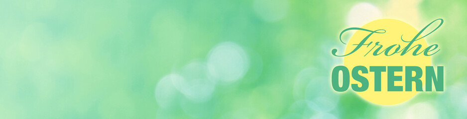frohe ostern banner mit bokeh