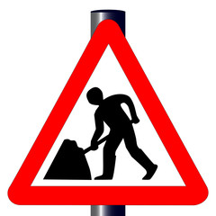 Men at Work Traffic Sign