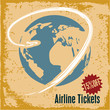 Travel background. Airline tickets.