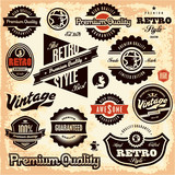 Retro labels. Vintage labels. Premium Quality Guarantee.
