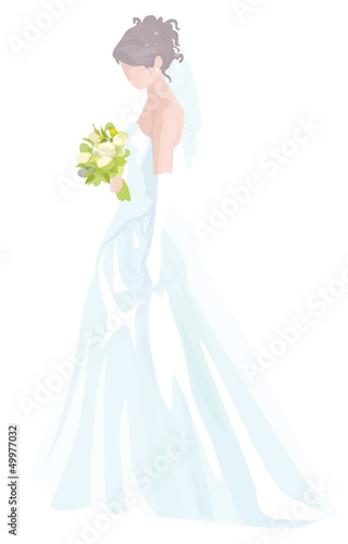 Vector of beautiful bride