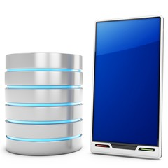 3d database server with mobile smartphone