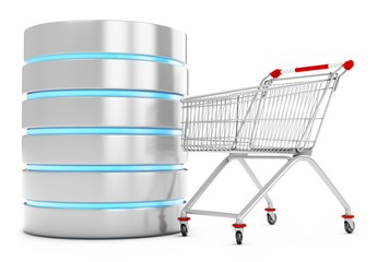 3d database server with shopping cart