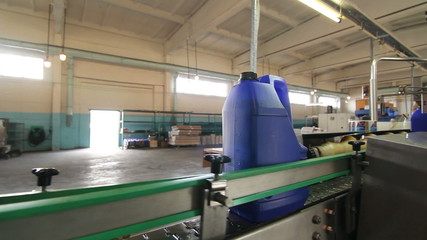 production line for machine oil bottling and packaging
