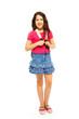 Full height portrait of 11 years girl
