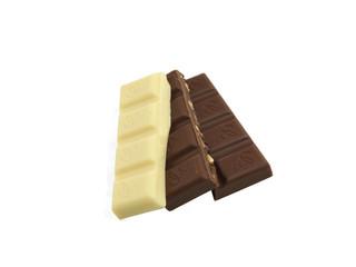 3 Riegel Schokolade aufgefächert