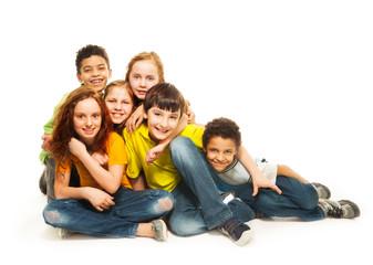 Group of diversity looking kids