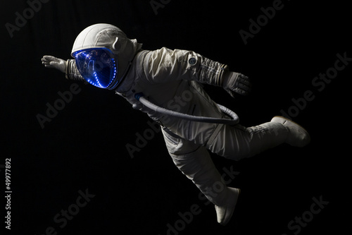 Plexiglas Nasa astronaut in space mission in the dark and space