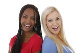 Glückliche schwarze u. weiße Frau - black and white woman