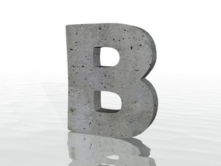 3D render of the text B