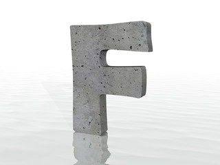 3D render of the text F