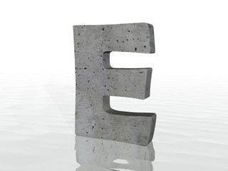 3D render of the text E